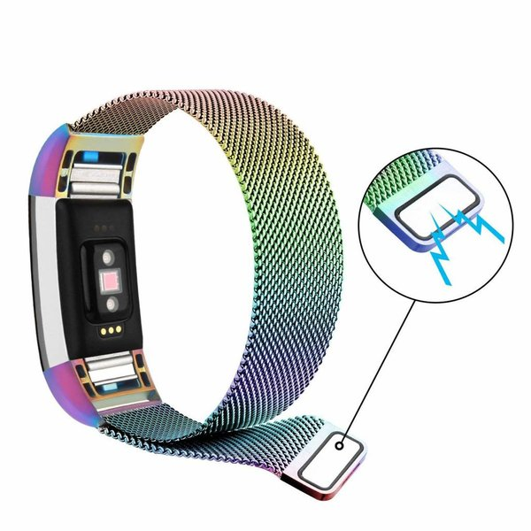 123Watches Fitbit charge 2 milanese band - coloré