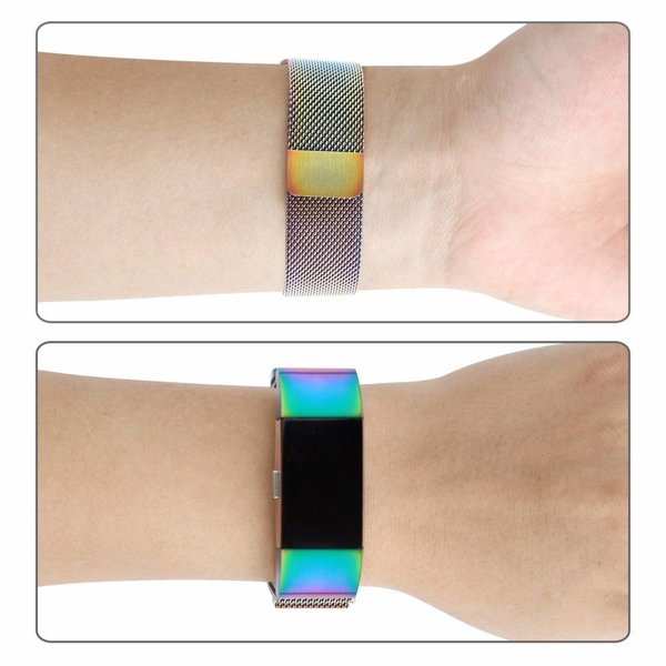 123Watches.nl Fitbit charge 2 milanese band - colorful