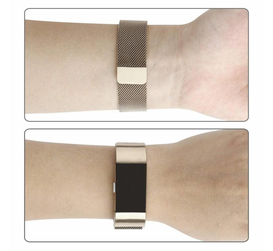 Fitbit Charge 2 champagne goud milanese bandje
