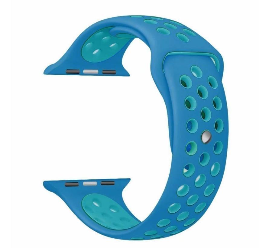 42mm Apple Watch blauw  / lichtblauw sport bandje