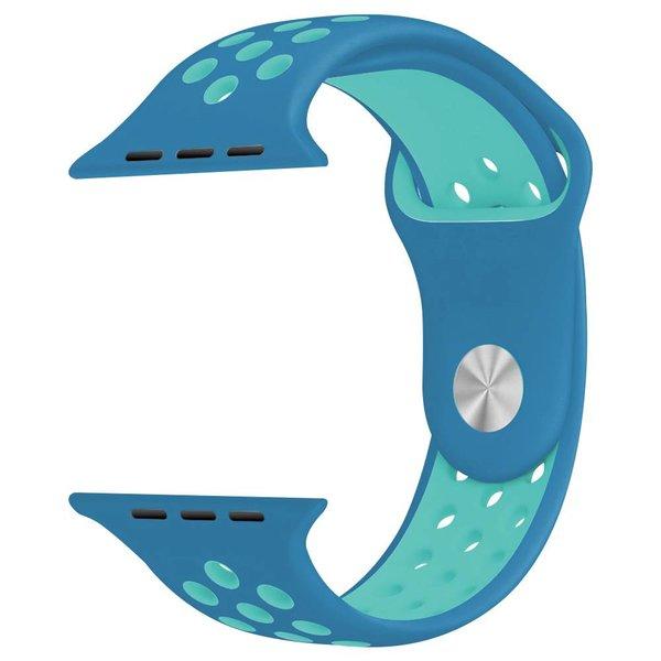 123Watches Apple watch dubbel sport band - blauw lichtblauw
