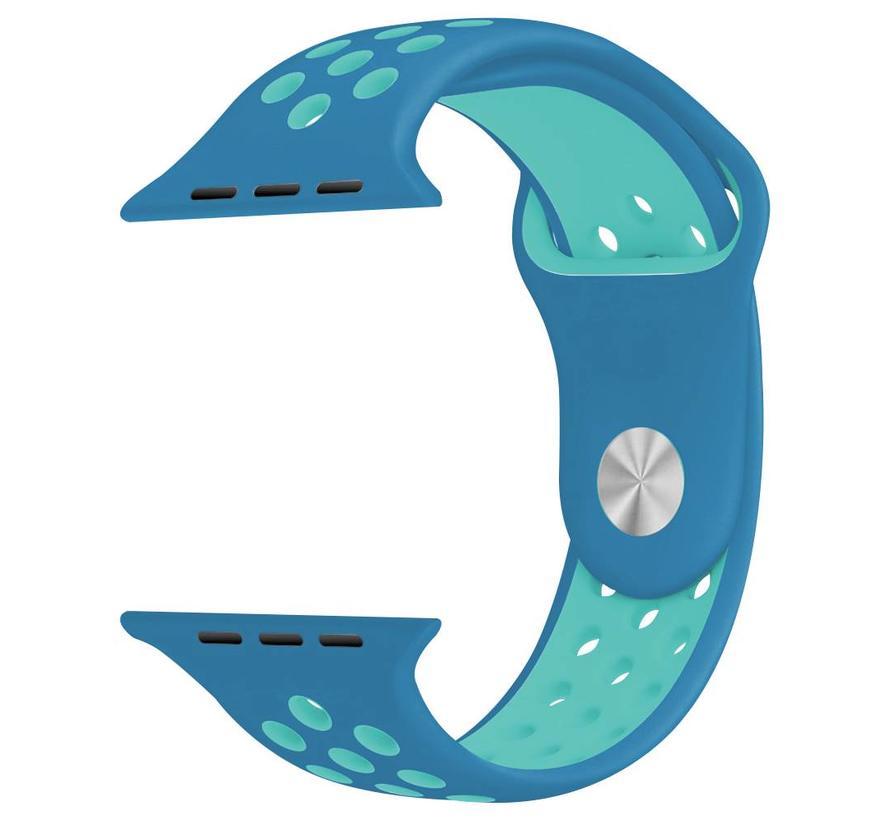 Apple watch dubbel sport band - blauw lichtblauw