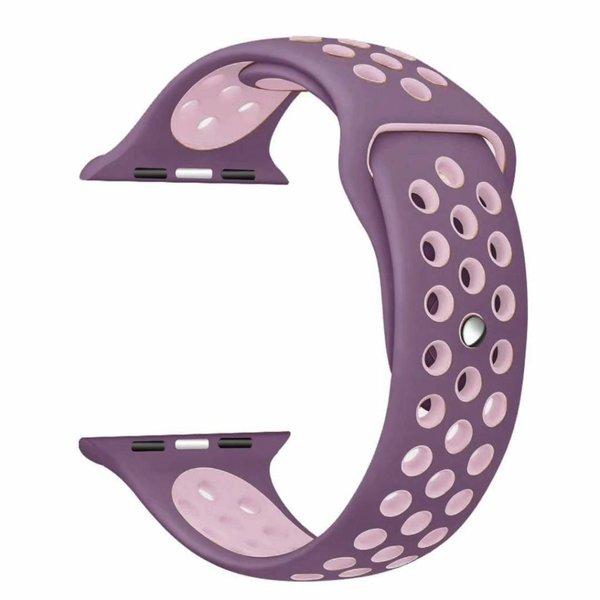123Watches Apple watch double sport bandje - violet pink