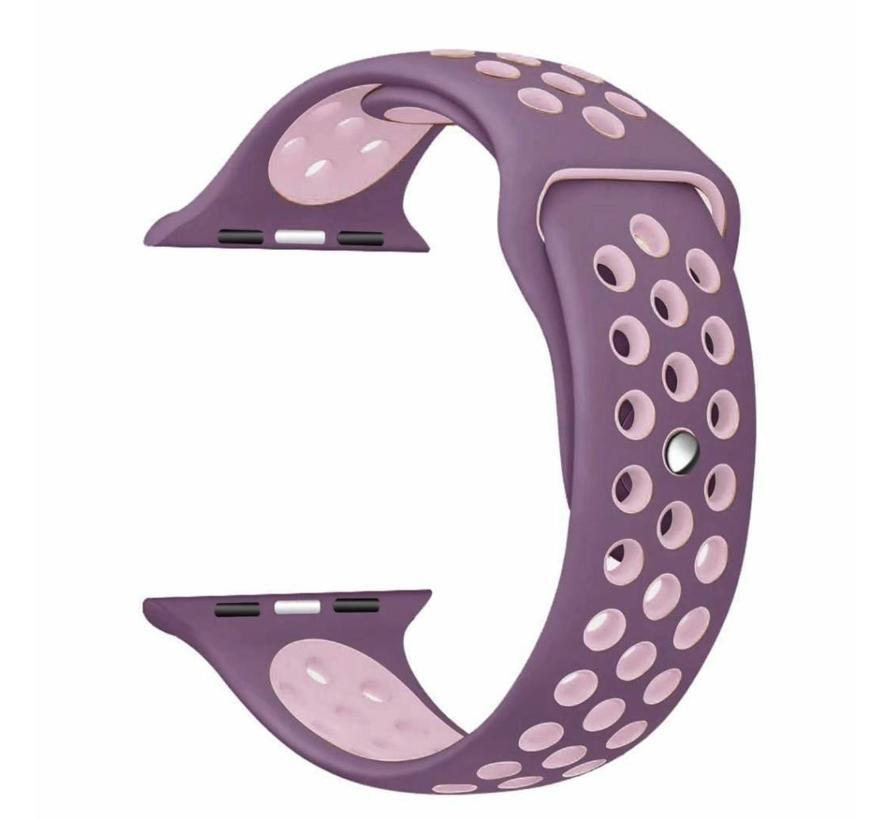 Apple watch sport bandje - violet roze