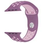 123Watches Apple watch dubbel sport bandje - violet roze