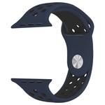 123Watches Apple watch dubbel sport bandje - middernacht blauw zwart