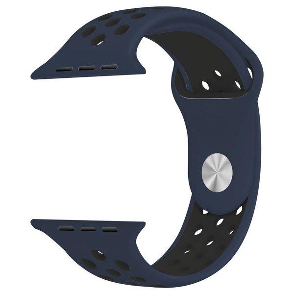 123Watches Apple watch double sport bandje - midnight blue black