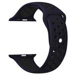 123Watches Apple Watch double sport sangle - nuit bleu noir