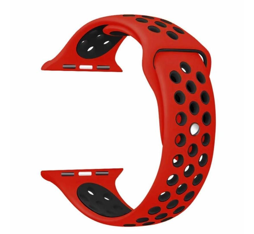 Apple watch sport bandje - rood zwart
