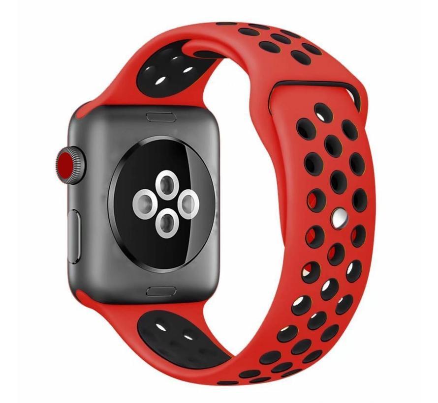 Apple watch dubbel sport bandje - rood zwart