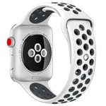 123Watches Apple watch double sport band - white black