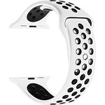 123Watches Apple Watch double sport sangle - blanc noir