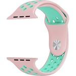 123Watches Apple watch dubbel sport bandje - roze lichtblauw