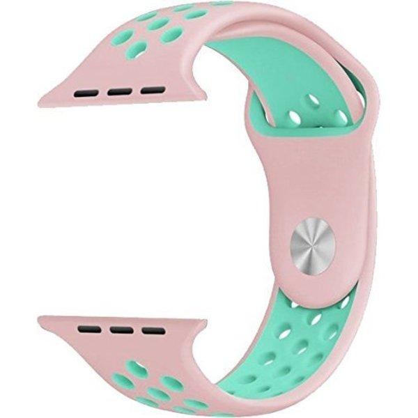123Watches Apple Watch double sport sangle - rose bleu clair