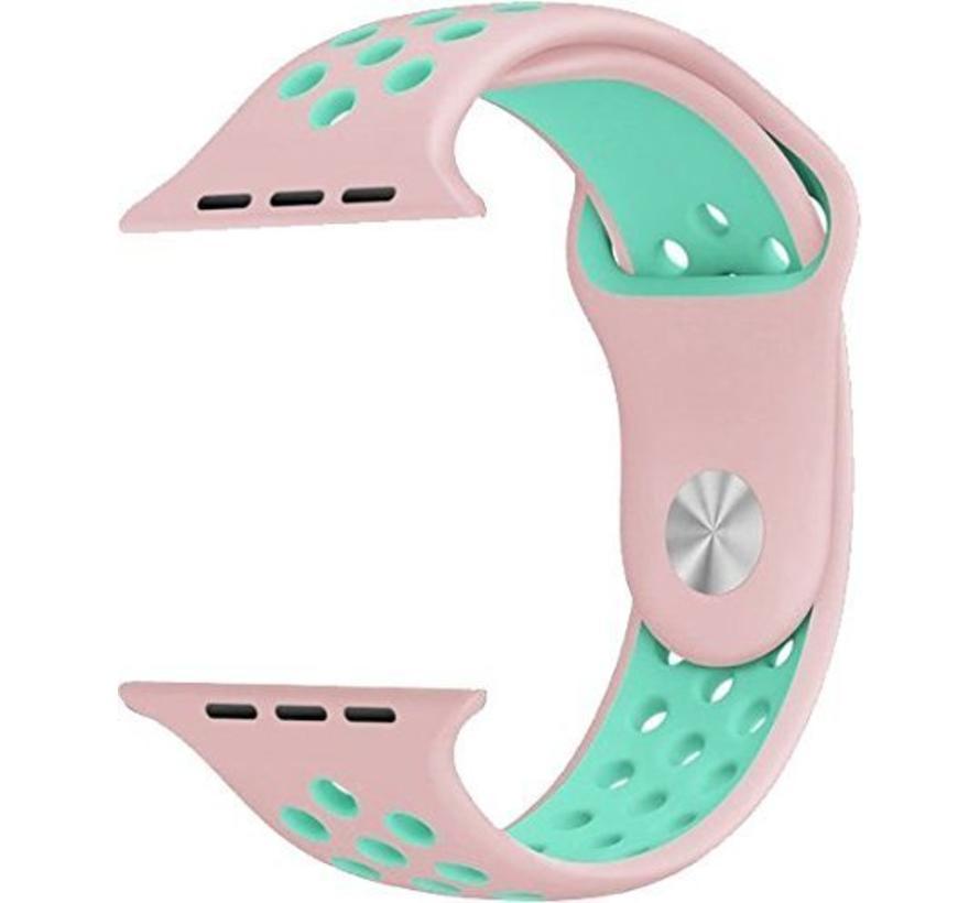 42mm Apple Watch roze / lichtblauw sport bandje
