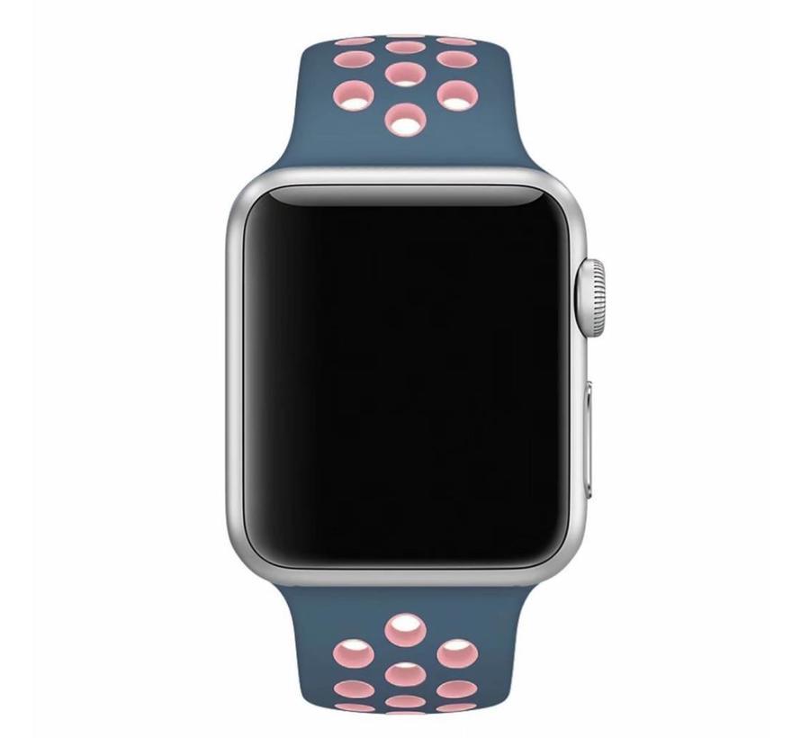 Apple watch doppelt sport bandje - blau rosa