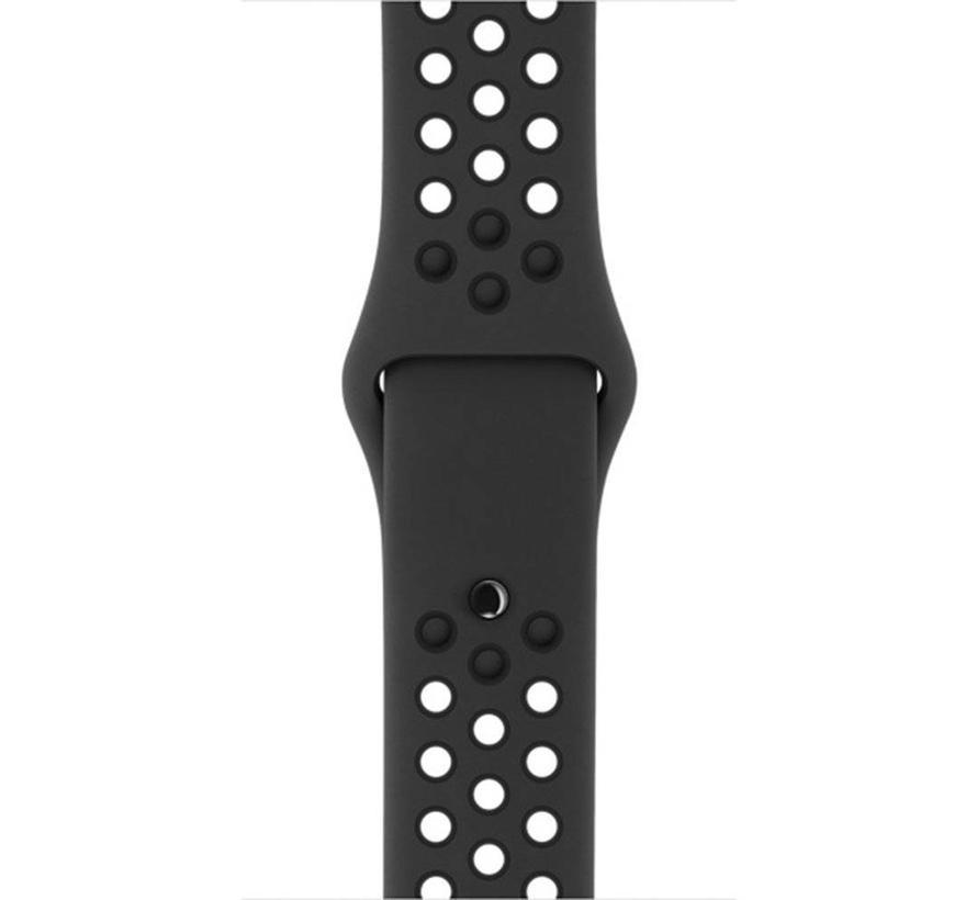 Apple watch doppelt sport bandje - braun schwarz