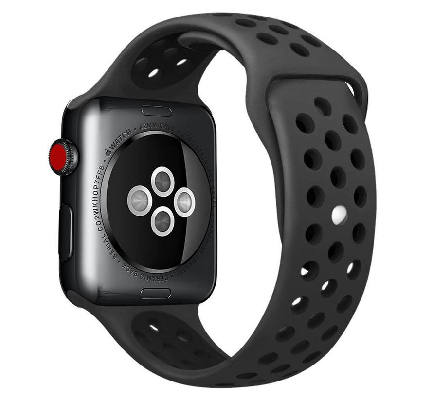 Apple watch sport bandje - bruin zwart