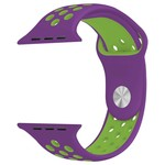 123Watches Apple watch double sport bandje - purple green