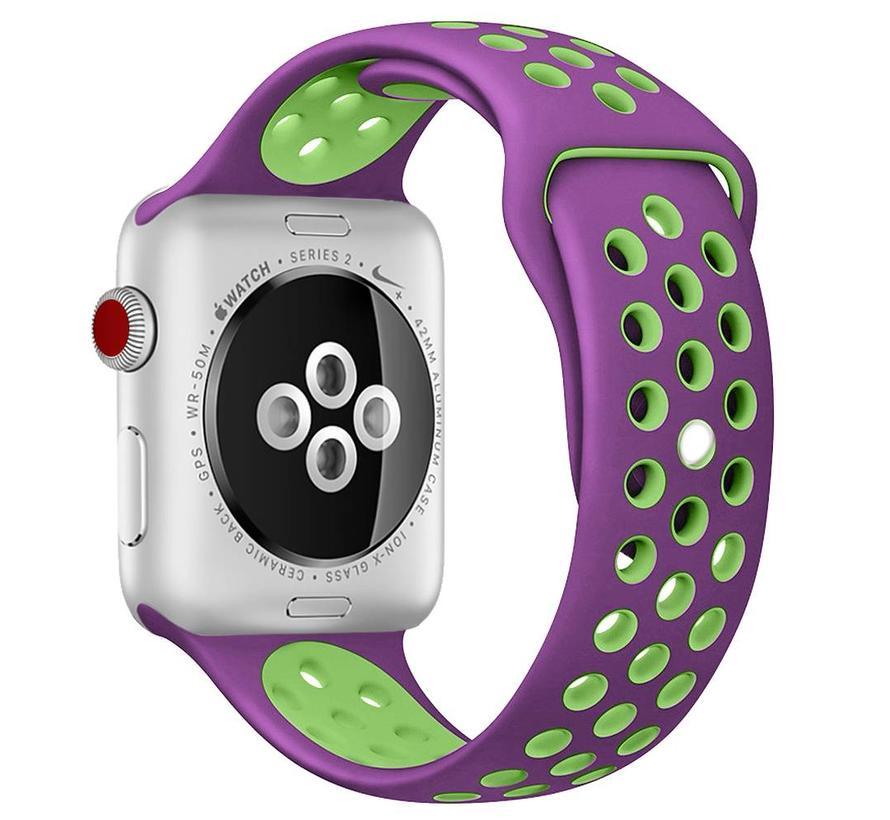 38mm Apple Watch paars / groen sport bandje