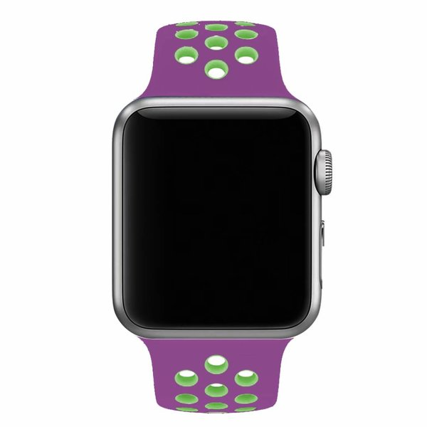 123Watches Apple Watch double sport sangle - Violet vert