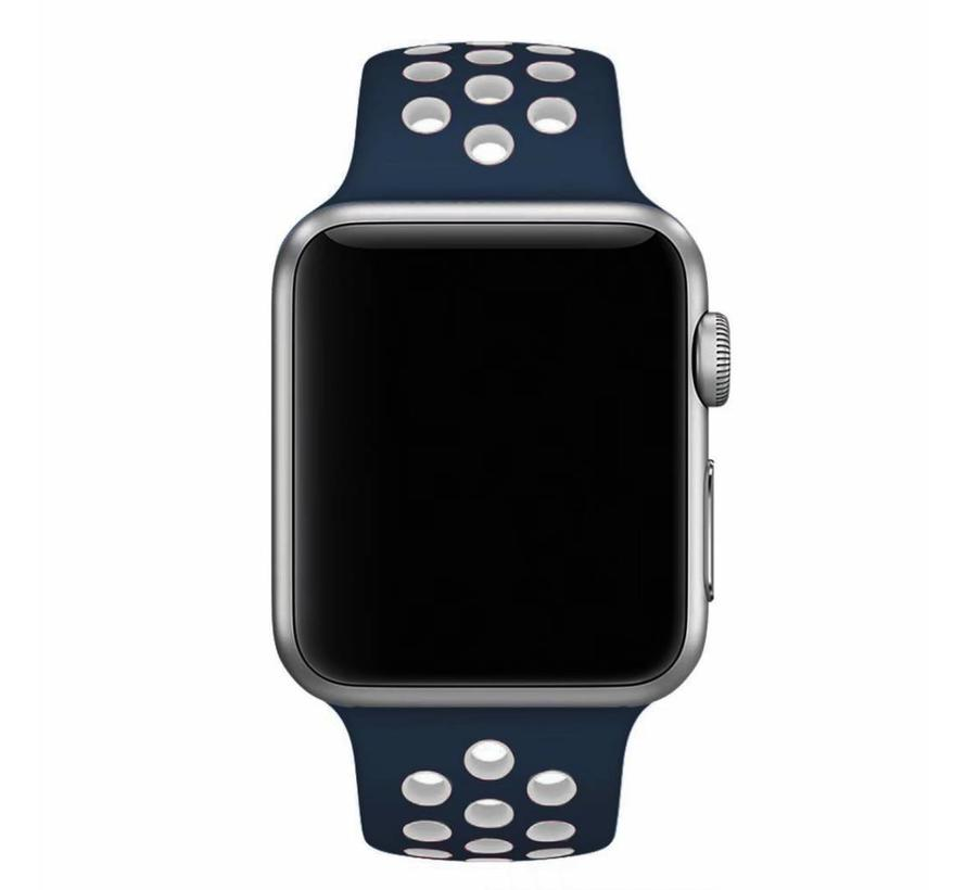 42mm Apple Watch blauw / wit sport bandje