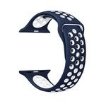 123Watches Apple watch dubbel sport bandje - blauw wit