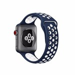 123Watches Apple Watch double sport sangle - bleu blanc