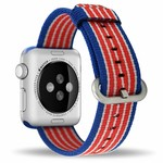 123Watches.nl Apple watch nylon gesp band - american