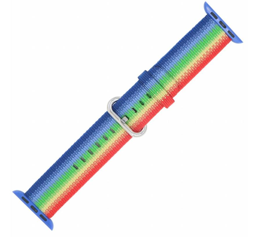 Apple watch nylon gesp band - rainbow