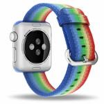 123Watches Apple watch nylon buckle band - rainbow