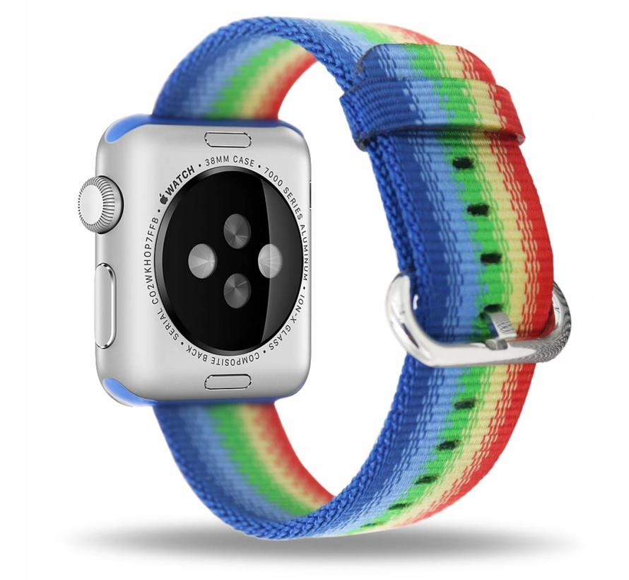 42mm Rainbow geweven nylon gesp bandje