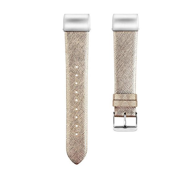 123Watches Fitbit charge 2 basic leather band - gold