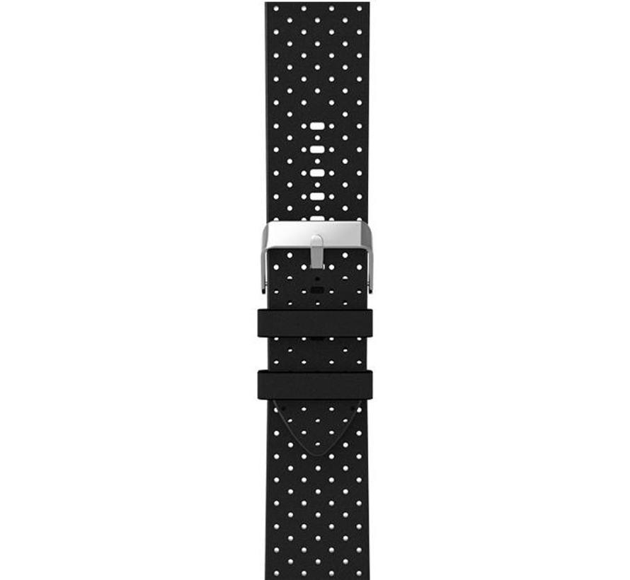 Apple watch leren ventilate band - zwart