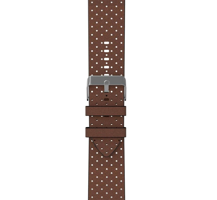 Apple watch leather fan band - brown