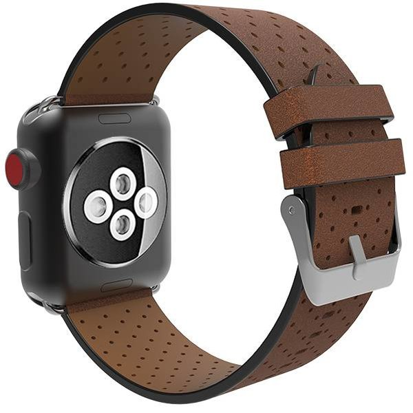 123Watches Apple watch leren ventilate band - bruin