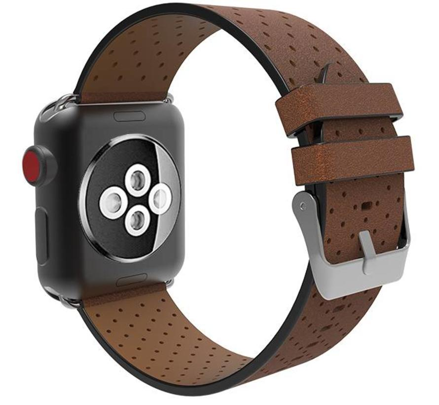 Apple watch leren ventilate band - bruin
