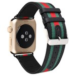 123Watches.nl Apple watch nylon double face band - zwart