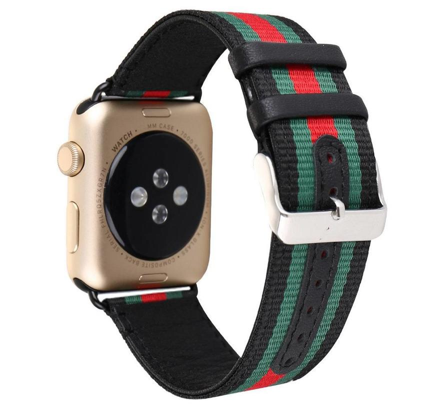 42mm Apple Watch zwart nylon double face bandje