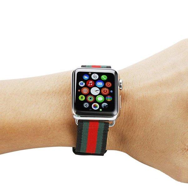 123Watches Apple Watch sangle double face en nylon - noir