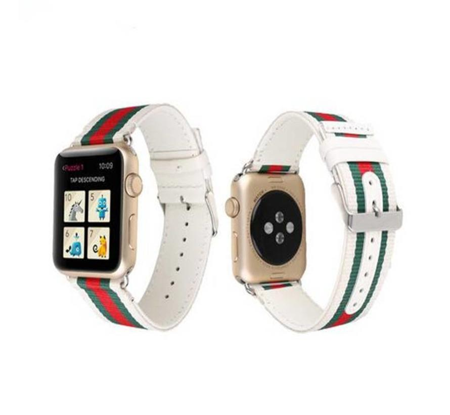 Apple watch nylon double face band - wit