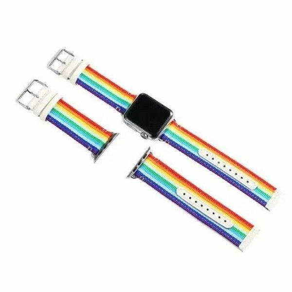 123Watches Apple watch nylon doppelgesichtsband - regenbogen