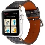 123Watches Apple watch leather grid band - black