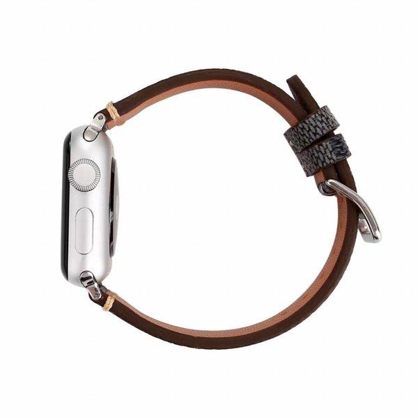 123Watches.nl Apple Watch Lerngitterband - schwarz