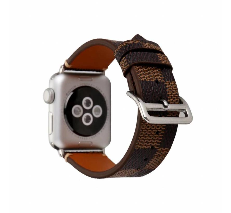 Apple watch leather grid band - brown
