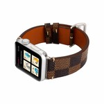 123Watches Apple watch leather grid band - brown