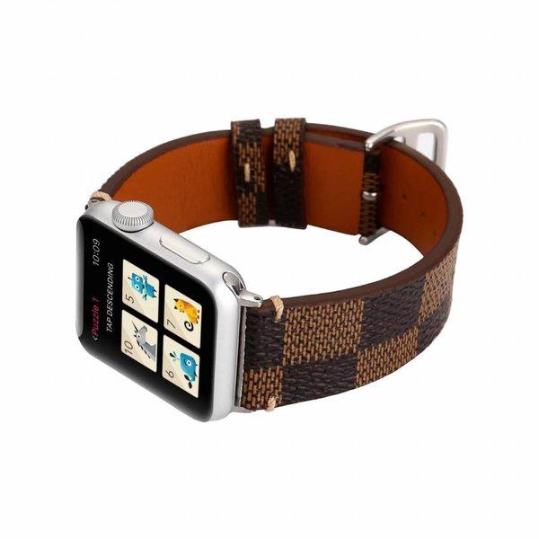 123Watches Apple watch leren grid band - bruin