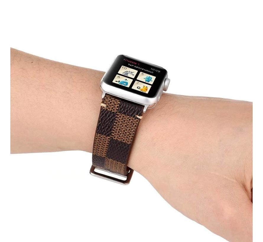 Apple Apple watch leather grid band - brown