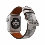 123Watches Apple watch leren grid band - wit