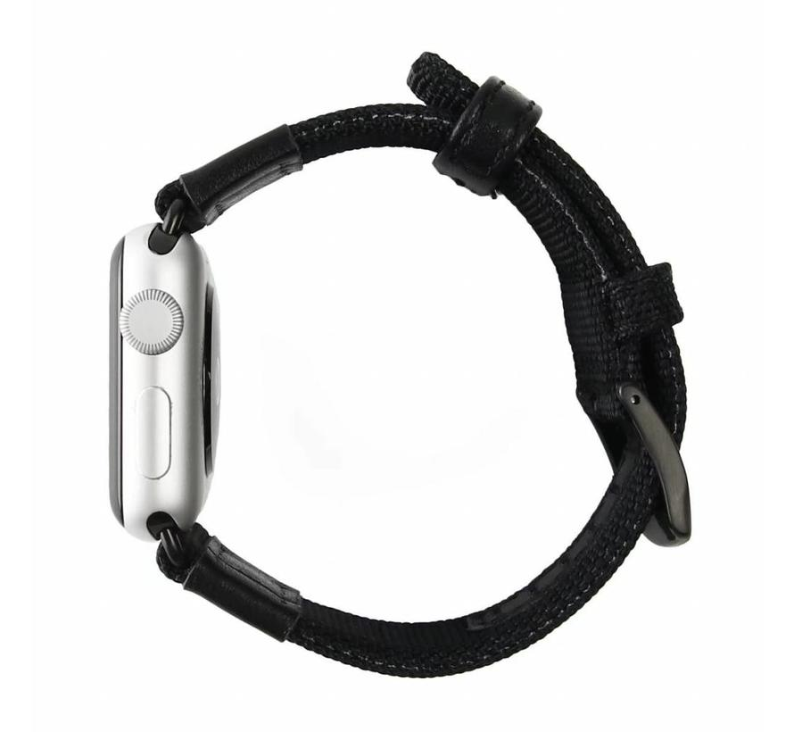 Apple watch nylon military band - zwart
